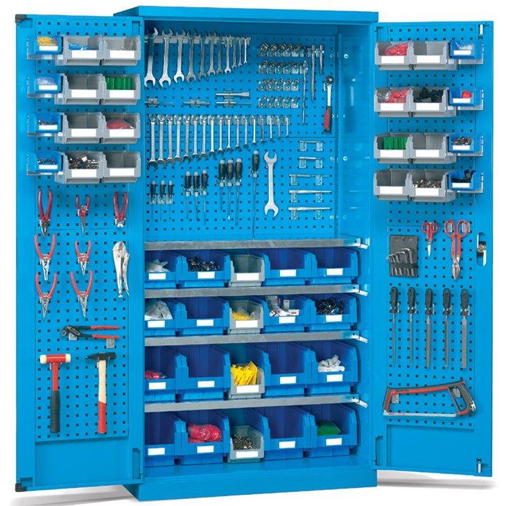 Flügeltürschrank für Werkzeug und Kleinteile