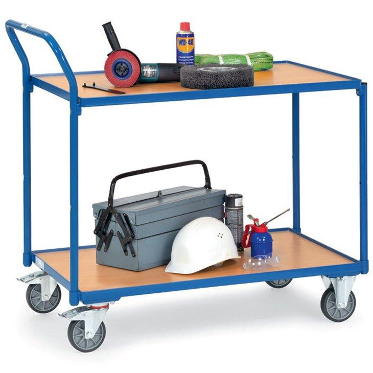 Tischwagen mit Holzboden