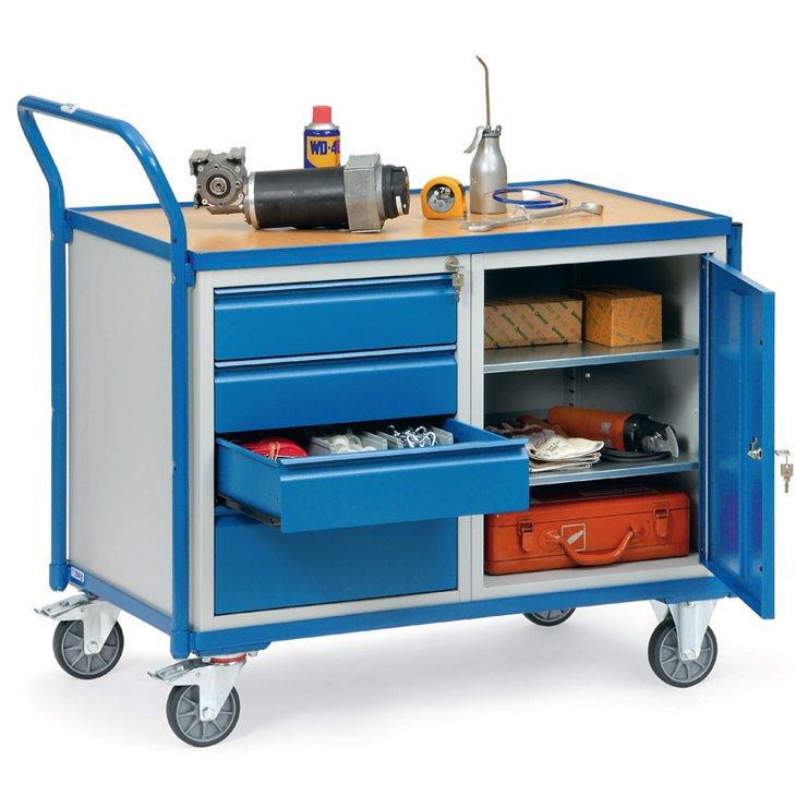 Werkstattwagen mit Schubladen und Flügeltüre