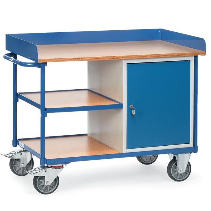 Werkstattwagen mit Umrandung und Unterbau