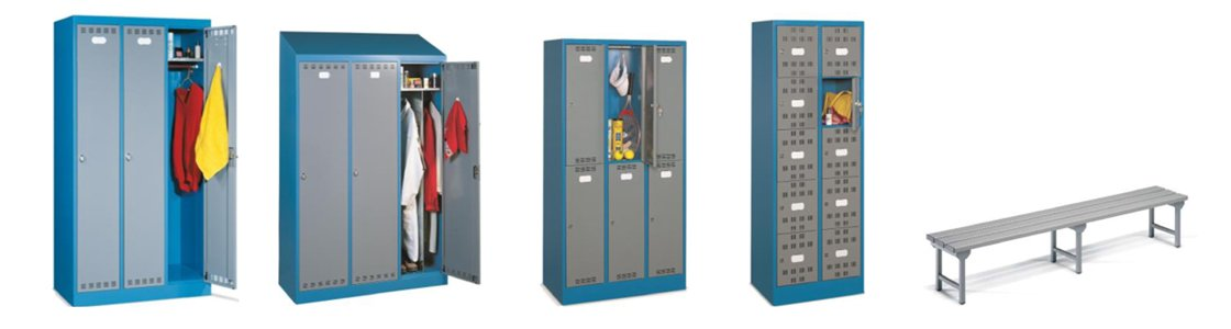 Garderoben für Werkstatt und Lager